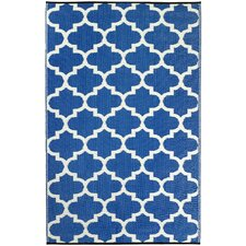 World Tangier Regatta Blue & White Indoor/Outdoor Area Rug