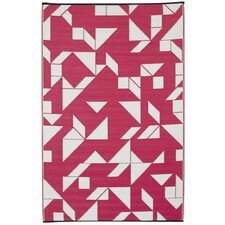 World Santa Cruz Beetroot/White Indoor/Outdoor Area Rug