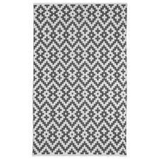Zen Samsara Cotton Charcoal Gray/White Area Rug