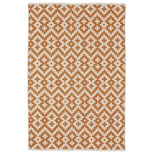 Zen Samsara Cotton Orange Peel & Bright White Area Rug
