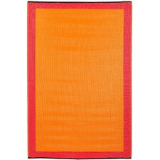 Skien World Orange Indoor/Outdoor Area Rug