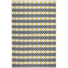 Estate Hand-Woven Yellow/Gray Area Rug