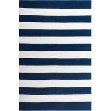 Nantucket Striped Blue & White Indoor/Outdoor Area Rug