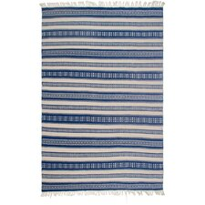 Estate Hand-Woven Blue/White Indoor/Outdoor Area Rug