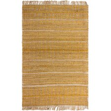 Heartland Hand-Woven Gold Area Rug
