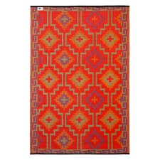 World Lhasa Orange & Violet Reversible Indoor/Outdoor Area Rug