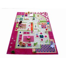 IVI Carpet - 3D Playhouse Pink Play Rug