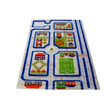 IVI Carpet - 3D Traffic Blue Play Rug