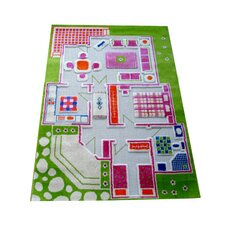 IVI Carpet - 3D Playhouse Green Play Rug