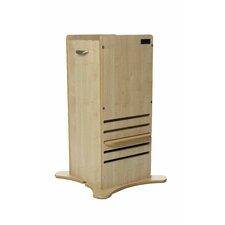 MDF 1-Step Wood Little Helper FunPod Step Stool with 200 lb. Load Capacity