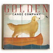 Golden Dog Canoe II Wall Décor