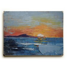 The Sun Falls Into the Sea Wall Décor