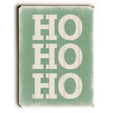 Ho Ho Ho on Green Wooden Wall Décor