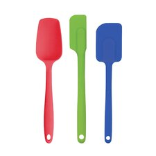 Nonstick Heat-Resistant Flexible 3 Piece Silicone Spatula Set