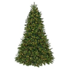 7.5' Deluxe Belgium Mix Artificial Christmas Tree with 950 Lit White Lights with Stand