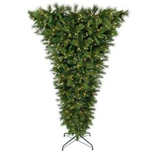 9' Belgium Mix Artificial Christmas Tree with 900 Lit White Lights with Stand