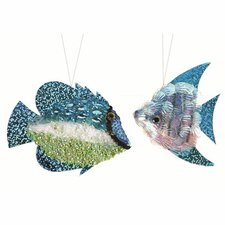 2 Piece Bead Sequins Tropical Fish Set