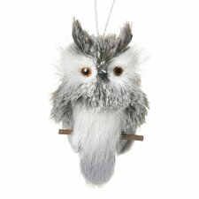 Faux Feather Felt Owl Ornament
