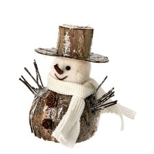 Frosted Snowman with Knit Scarf