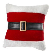 Santa Belt Fabric Euro Throw Pillow