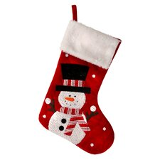 Sparkle Snowman Stocking