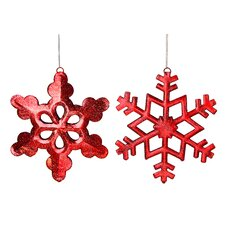6 Piece Glitter Snowflake Ornament