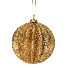 3 Piece Glitter Ridge Ball Ornament Set (Set of 3)