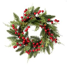 Pine and Juniper with Berries Wreath