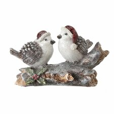 Bird Couple on Log Table Piece