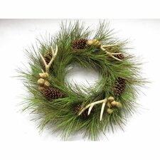 Long Needles, Cones, Horns, and Nuts Wreath