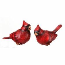 2 Piece Cardinal Sitters Figurine Set