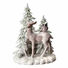 Frosted Animals in Wilderness Table Piece