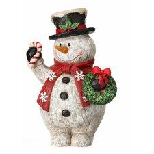 Wood Grain Snowman
