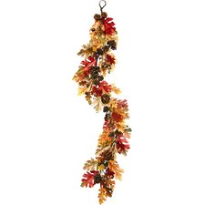 Leaf with Acorns Garland