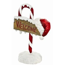 Candy Cane Welcome Sign