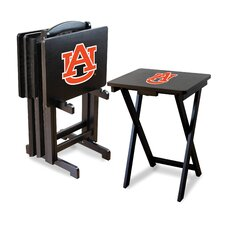NCAA 4 Piece TV Tray Set with Stand