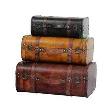 3 Piece Suitcase Trunk Set