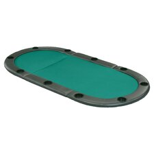 "Fat Cat Oval 6'11"" Folding Poker Table Top"