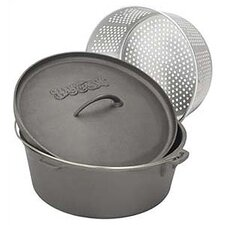 Dutch Oven with Perforated Basket