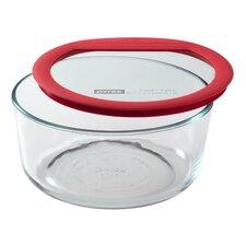 Premium Glass Lids 56 Oz. Round Storage Dish