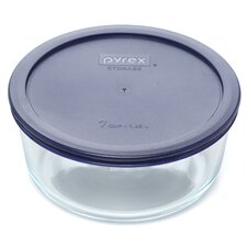 Storage Plus 7 Cup Round Dish with Lid (Set of 4)