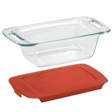 Easy Grab 1.5 Qt. Loaf Dish with Plastic Cover