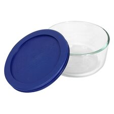 Storage 2-Cup Round Dish with Cover (Set of 2)