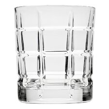 Plaid Double Old Fashion Glass (Set of 4)