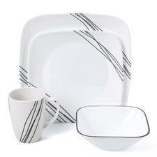 Simple Sketch 16 Piece Dinnerware Set