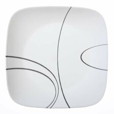 """Simple Lines 10.25"""" Square Dinner Plate (Set of 6)"""