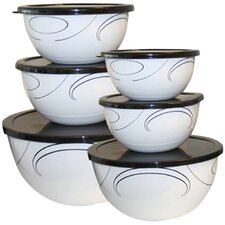 Simple Lines 12 Piece Food Storage Container Set