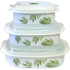 Bamboo Leaf 6-Piece Microwave Cookware and Storage Set