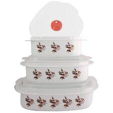 Twilight Grove 6-Piece Microwave Cookware and Storage Set