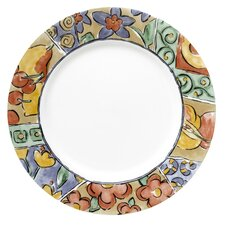 """Impressions 10.75"""" Watercolors Dinner Plate (Set of 6)"""